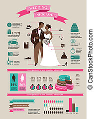 vecteur, graphique, ensemble, éléments, mariage
