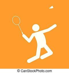 vecteur, graphique, figure, symbole, illustration, badminton, sport