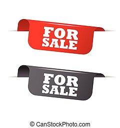 vecteur, gris, éléments, vente, rouges