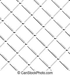 vecteur, gris, fil, pattern., seamless, isolé, arrière-plan., maille, blanc