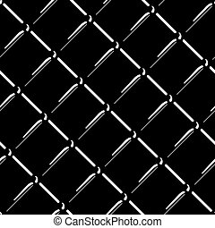 vecteur, gris, fil, pattern., seamless, isolé, arrière-plan., maille, noir