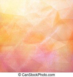 vecteur, grunge, vendange, texture, papier, fond, retro, fond, triangles