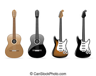 vecteur, guitares