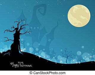 vecteur, halloween, fond