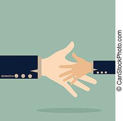 vecteur, handshake., illustration.