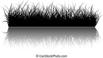 vecteur, herbe, fond