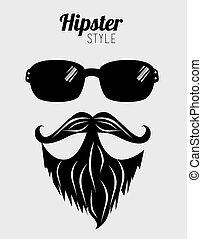 vecteur, hipster, conception, illustration.
