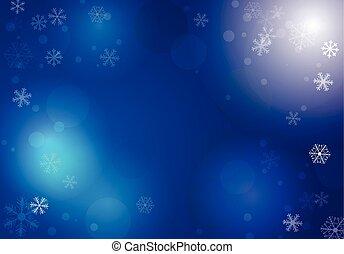 vecteur, hiver, fond