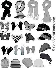 vecteur, hiver, wardrobe-icon
