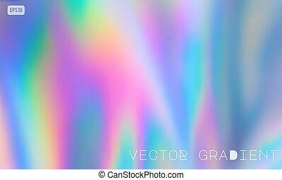 vecteur, holographic, arrière-plan pastel, coloré