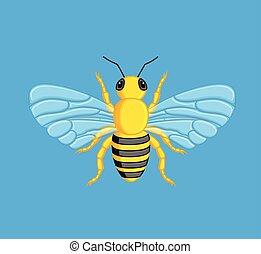 vecteur, honey-bee