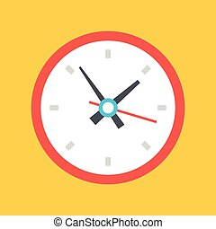 vecteur, horloge, icône
