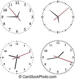vecteur, horloge