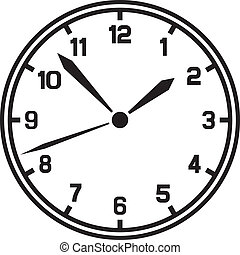 vecteur, horloge, (timer)