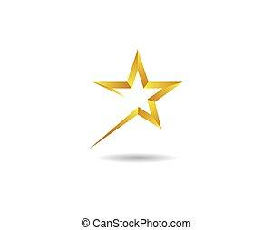 vecteur, icône, étoile