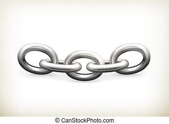 vecteur, icône, chaîne