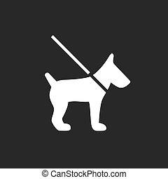 vecteur, icône chien