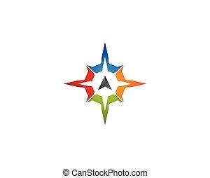 vecteur, icône, compas, symbole