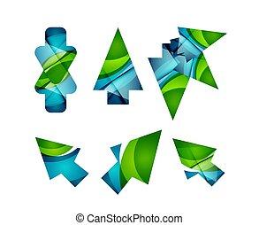 vecteur, icône, flèche, souris, indicateur, ou, directionnel, symbole