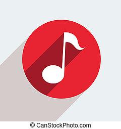vecteur, icône, gris, rouges, eps10, cercle, arrière-plan.