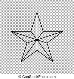vecteur, icône, isolé, transparent, étoile, arrière-plan., illustration