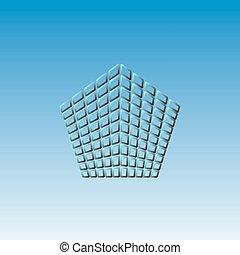 vecteur, icône pentagone