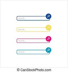 vecteur, icône, recherche, graphique, toile, illustration, plat, barre, éléments conception