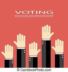 vecteur, icône, vote