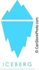 vecteur, iceberg, icône