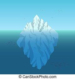 vecteur, iceberg, illustration, fond