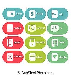 vecteur, icone, infographic, ensemble
