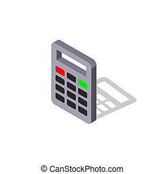 vecteur, icon.isometric, illustration., eps, calculatrice, -