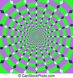 vecteur, -, illusion, optique