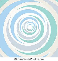 vecteur, illustrati, spirale, fond