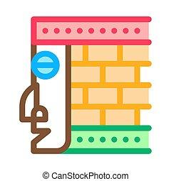 vecteur, illustration, élément, architectural, contour