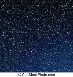 vecteur, illustration, étoiles, ciel, nuit