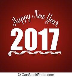 vecteur, illustration, 2017, année, nouveau, heureux