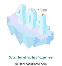 vecteur, illustration, 404, erreur, pas, trouvé, message, page