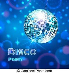 vecteur, illustration., ball., disco