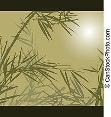 vecteur, illustration, bambou