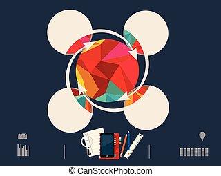 vecteur, illustration, de, cercle
