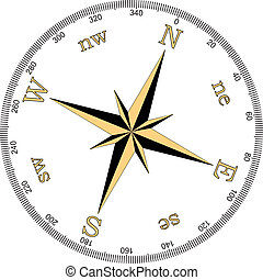 vecteur, illustration, de, compas
