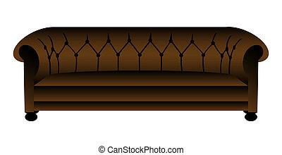 vecteur, illustration, divan