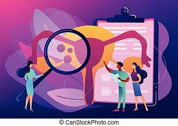 vecteur, illustration., endometriosis, concept