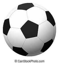vecteur, -, illustration, football, black-white