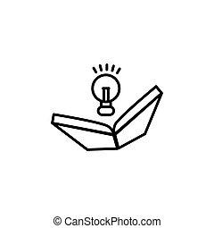 vecteur, illustration, gabarit, idée, conception, livre, icône
