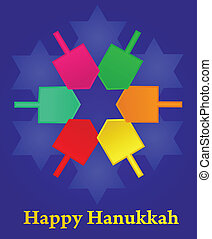 vecteur, illustration, hanukkah