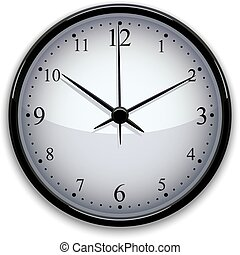 vecteur, illustration., horloge