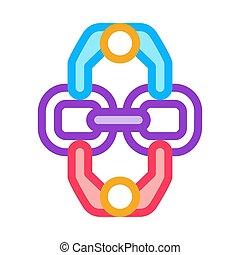 vecteur, illustration, humain, icône, contour, connexion