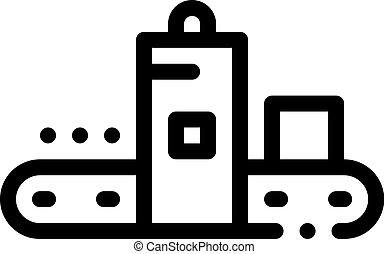 vecteur, illustration, icône, metallurgical, fonderie